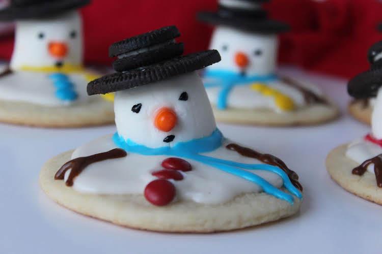 Pinterest Pass Or Fail Melting Snowman Cookies Just A Pinch