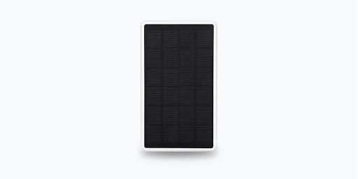 Front view of Wasserstein Solar Panel for Google Nest Cam (outdoor or indoor, battery)