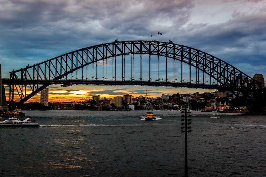 Sydney Harbour Bridge by Sunayan Banerjee - Buildings & Architecture Bridges & Suspended Structures ( landmark, sunsets, monument, bridge, sydney,  )