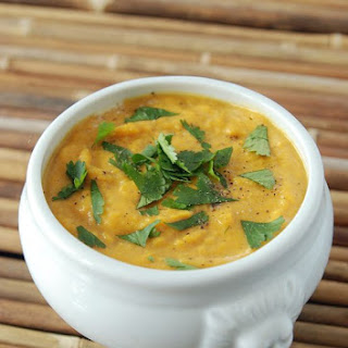 Sweet Potato Coconut Curry Soup.