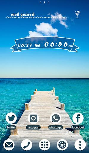 Beautiful Wallpaper Dock to the Sea Theme 1.0.0 Windows u7528 1