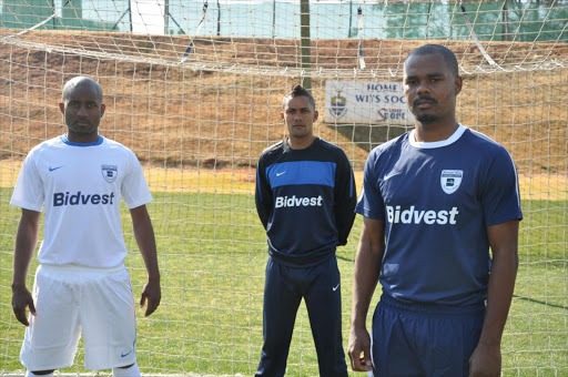 Wits players Sandile Sibande, Stanton Fredericks and Derrick Spencer during a training session.