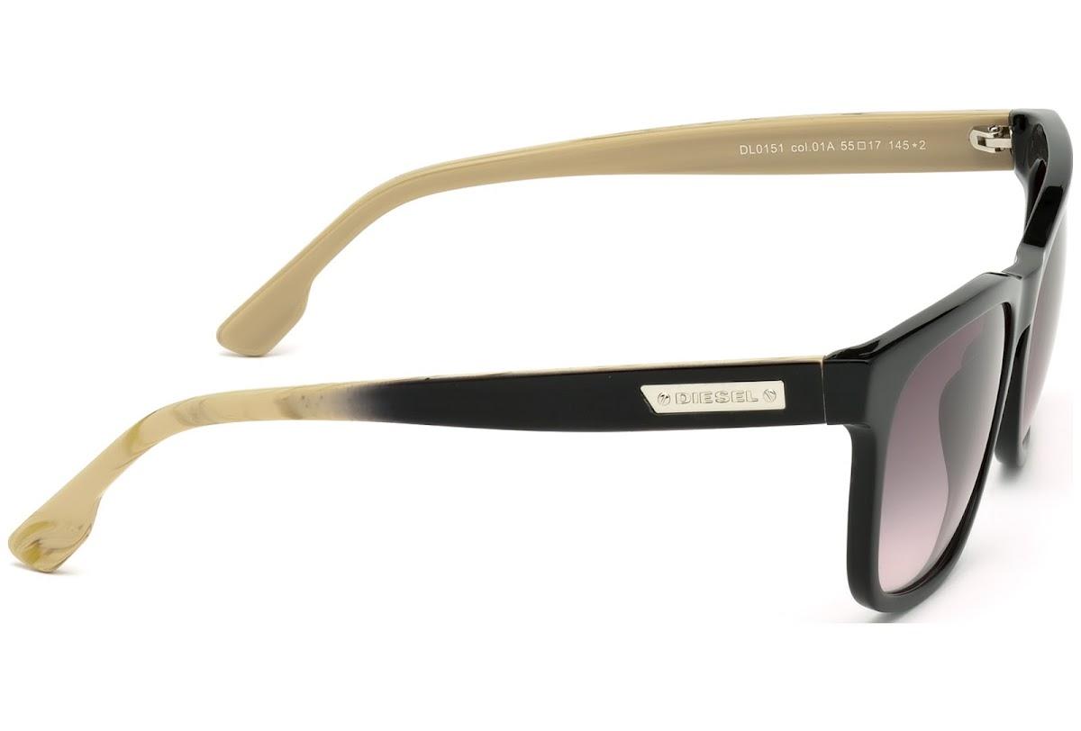 8d030add5d Buy Diesel DL0151 C55 01A (shiny black   smoke) Sunglasses