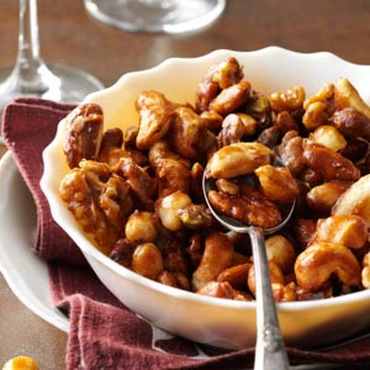 Sugar-and-Spice Candied Nuts Recipe | Yummly