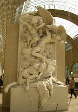 Photo: Cool statue of men fighting off huge eagles at the Musée d'Orsay