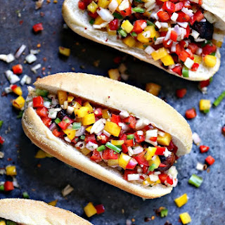 Grilled Beer Brats with Boozy Salsa.