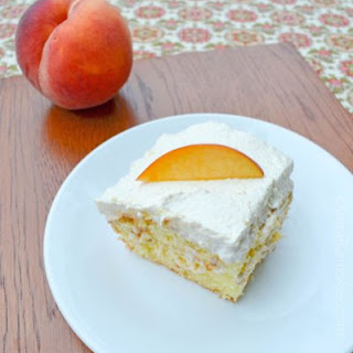 Peach Poke Cake