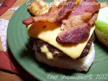 Cajun Seasoned Stuffed Cheeseburger