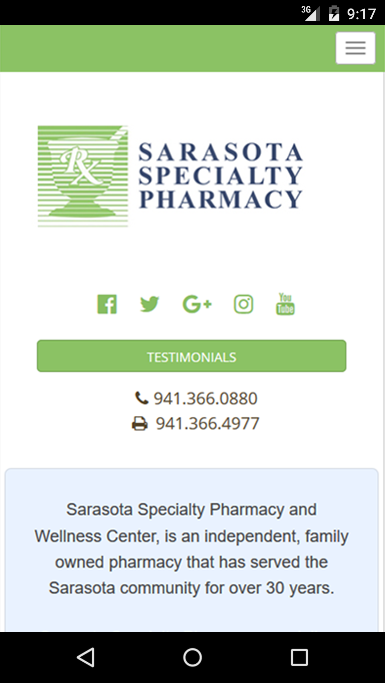 Sarasota Specialty Pharmacy- screenshot