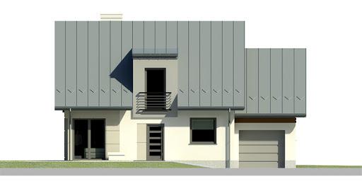 Dom przy Cyprysowej 21 - Elewacja przednia