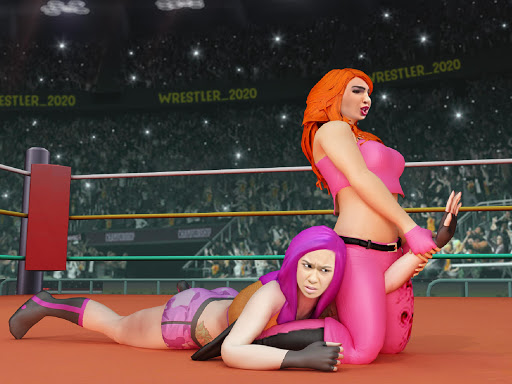 Women Wrestling Rumble: Backyard Fighting apkpoly screenshots 8