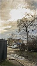 Photo: Str. Univers la intersectie cu Calea Victoriei -- tenebre - 2018.03.12