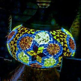 by Dee Haun - Artistic Objects Glass ( south carolina, globe, charleston, stained glass, artistic object, lamp, 180606t2632bc3e1, iphone,  )