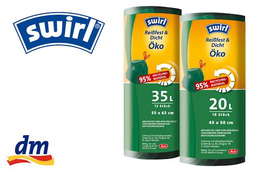 Bild für Cashback-Angebot: Swirl® Öko-Müllbeutel mit Zugband 20l und 35l - Swirl