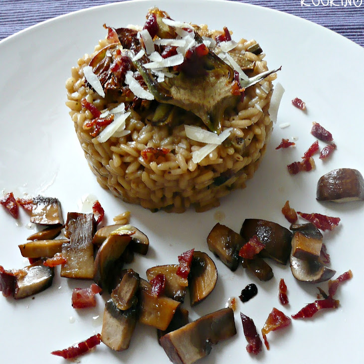 Portobello and Artichoke Risotto