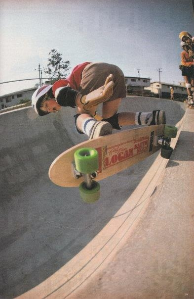 Photo: A young Eric Dressen off the top of this bowl on his Robin model............
