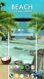 Beach 3D Live Wallpaper 2018 - náhled