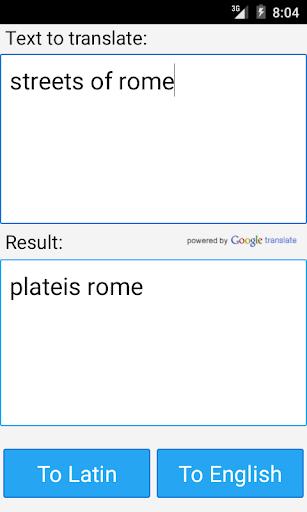 ラテン翻訳辞書