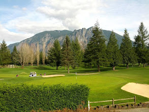 Photo: Taken from the restaurant at Mt. Si Golf Course