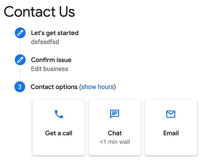 Hỗ trợ điện thoại của Google My Business