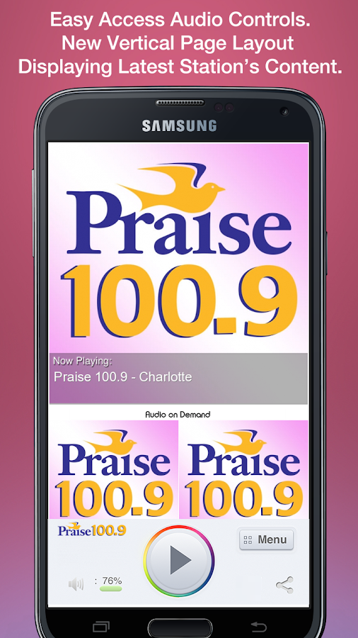 Praise 100.9 - Charlotte - screenshot