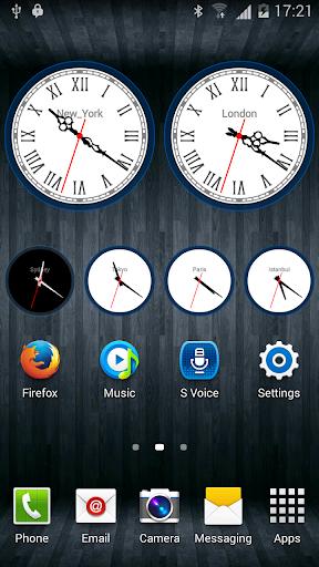 Analog Clock Widget with Alarm