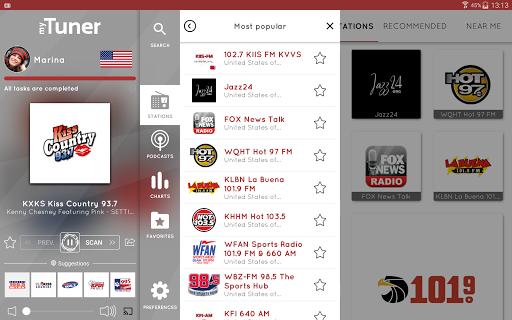 myTuner Radio App - Free FM Radio Station Tuner Screenshot