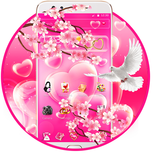 Pink Sweet Heart theme