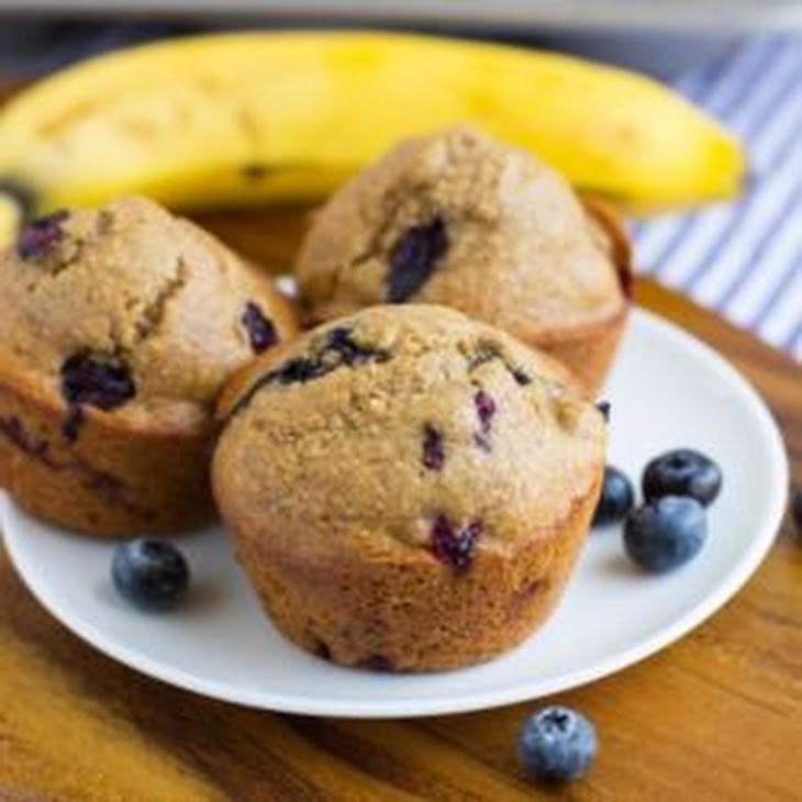 Flourless Blueberry Banana Muffins