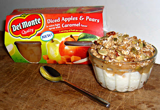 Photo: See my blog post for how I made my lunch a healthier one with Del Monte & get my homemade granola recipehttp://bit.ly/QH1cqL