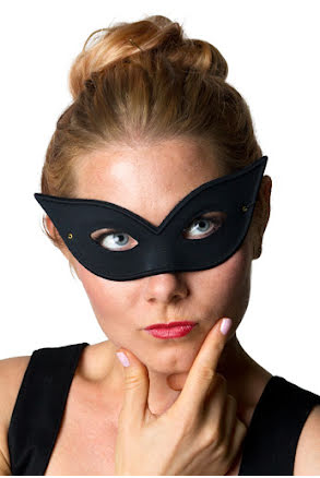 Ögonmask bella, svart