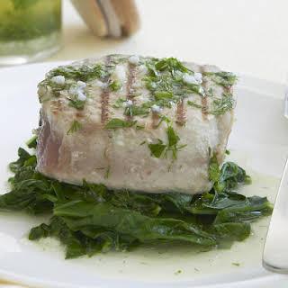 Tuna Steaks with Herb and Garlic Vinaigrette.
