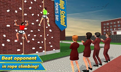 High School Girl Virtual Sports Day Game For Girls APK screenshot thumbnail 1