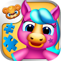 123 Kids Fun PUZZLE Blue Free icon