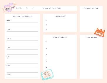 Safe Schedule - Planner Template
