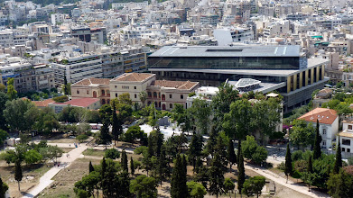 Photo: View from Acropolis: New Acropolis Museum