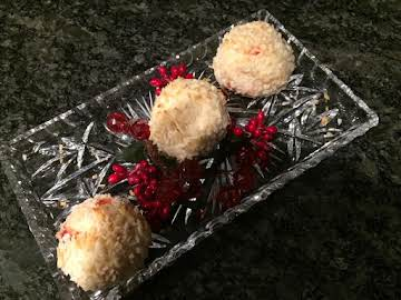 Toasted Coconut Cherry Snowballs