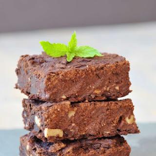 Vegan Chocolate Mint Protein Brownies.