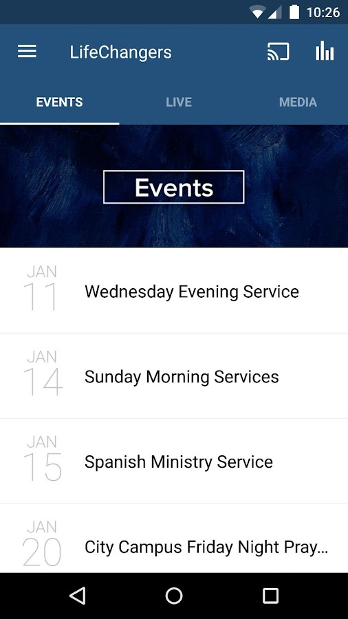 Life Changers Church App- screenshot