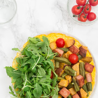 Open- Faced Omelette with Sweet Potato, Okra and Spam - Sierra Leone Flavours