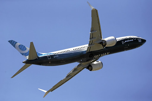 A Boeing 737 Max takes part in a flying display at the Paris Air Show on June 19 2017. Picture: REUTERS