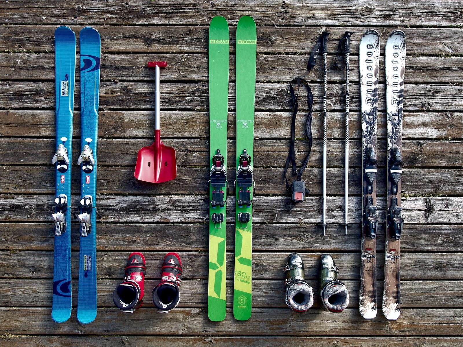 Làm quen với các thiết bị trước khi trượt tuyết