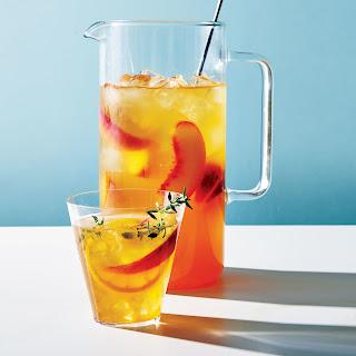 Peach-Thyme Iced Tea.