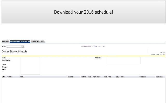 WPI Schedule Exporter (2017 Version)