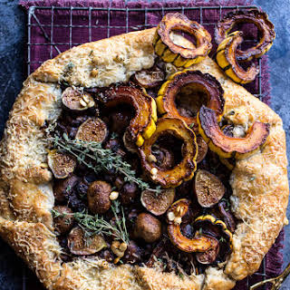 Buttered Mushroom, Fig and Bacon Galette with Roasted Squash..
