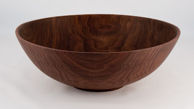 "Photo: Tim Aley - 12"" x 4"" salad bowl [walnut]"