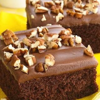 Triple Chocolate Sheet Cake