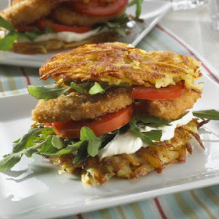 Crispy Chicken Potato Burgers