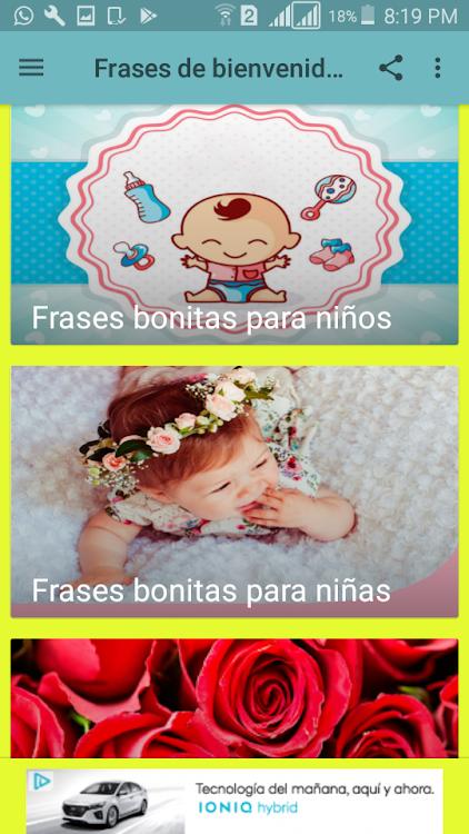 Frases De Bienvenida Para Un Lindo Bebé Android Apps