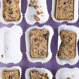 Peanut Butter and Cranberry Protein Bars.
